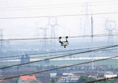 Transmission line inspection robot